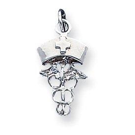 Sterling Silver Nurse Symbol Charm - JewelryWeb
