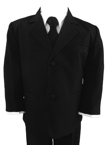 Gino Giovanni Wedding Boy Formal Suit Black Size 12 front-891982