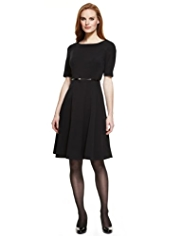 M&S Collection Panelled Belted Skater Dress