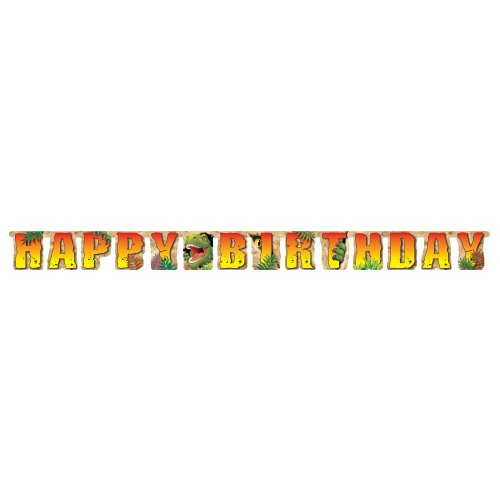 Creative Converting Dino Blast Happy Birthday Jointed Party Banner