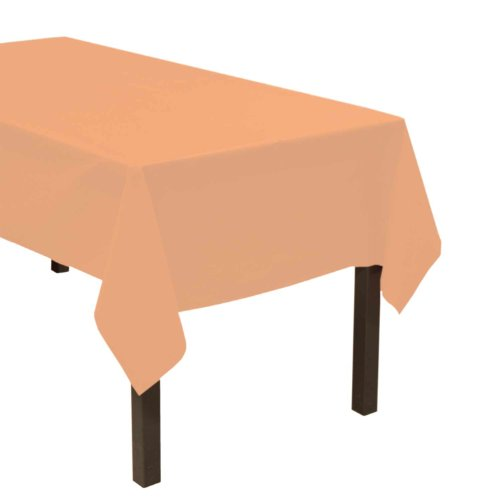 "Party Essentials Heavy Duty Plastic Table Cover, 54 x 108"", Melon"