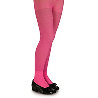 Pink Glitter Tights - Child Size Large