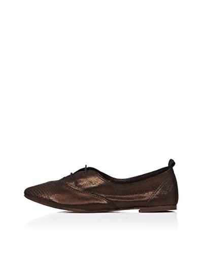 Bueno Shoes Zapatos Metalizado Negro / Dorado