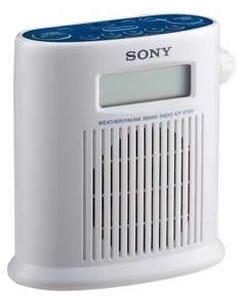 Sony ICFS79W AM/FM/Weather Band Digital Tuner Shower Radio (White)