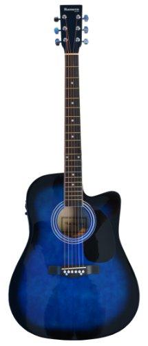 Blue Acoustic Electric Guitar