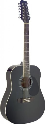 Stagg Sa40D/12 - Bk 12-String Acoustic Guitar - Black Body