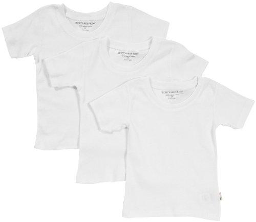 Burt'S Bees Baby Little Boys' 3-Pk S/S Tee - Cloud - 4T