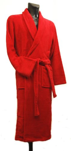 Men's Warm Microfibre Fleece Dressing Gown - Guards Red