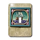 Danita Delimont - California - Decorative tile, Catalina Island, California - US05 AJE0029 - Adam Jones - Light Switch Covers - single toggle switch