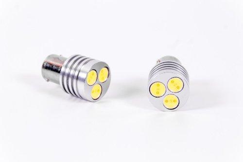 Seitronic ® avec feux de circulation diurnes à lED 3 w culot bA15S, xenon connaître 7000 k blanc