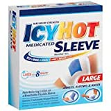 ICY HOT® (Maximum Strength) MEDICATED SLEEVE (Ankles, Elbows & Knees) Large 3 Sleeves