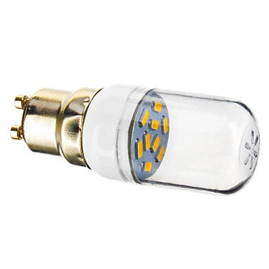 Gu10 1.2W 9X5730Smd 90-120Lm 2800-3200K Warm White Light Led Spot Bulb (220-240V)