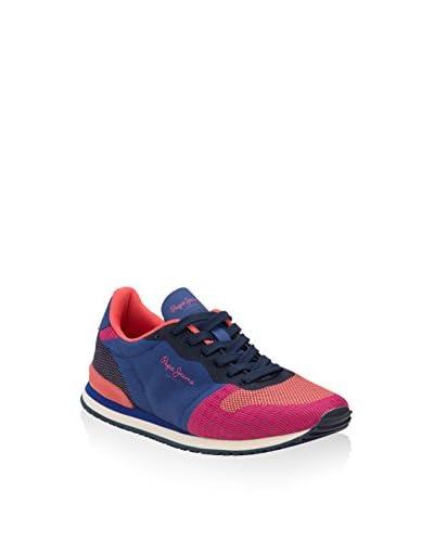 Pepe Jeans Sneaker Gable Woven Bicolor pink/blau