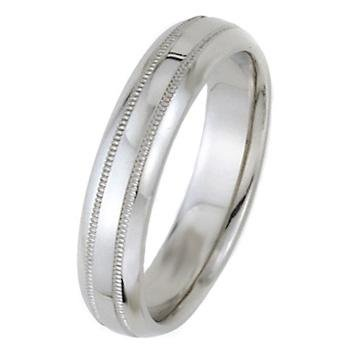 Medium-Weight Dome Park Avenue Wedding Bands in 14k White Gold (5mm)