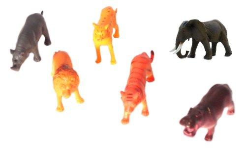 WeGlow International Plastic Wild Animals Assorted, Set of 6