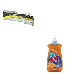 KITCPM49860EVEEN91 - Value Kit - Ajax Dish Detergent (CPM49860) and Energizer Industrial Alkaline Batteries (EVEEN91)