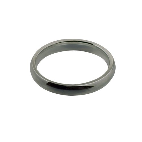 Palladium 500 3mm plain Court shaped Wedding Ring Sizes I to P