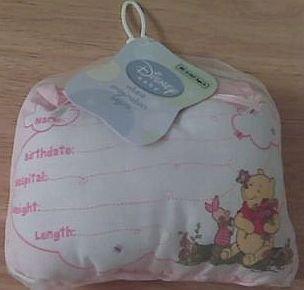 Disney's Winnie the Pooh Birth Announcement Door Pillow w/ Pen