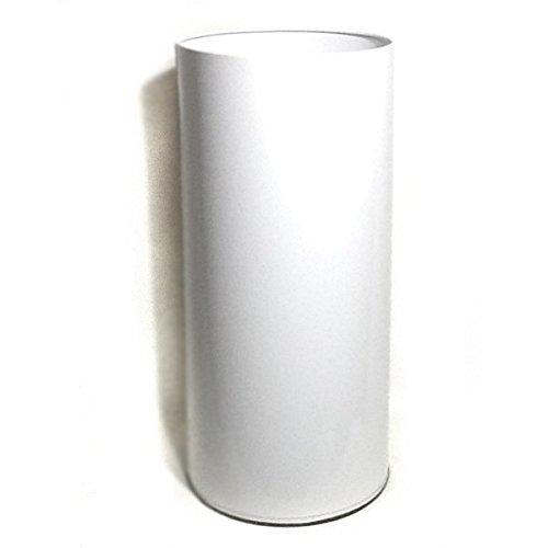 GALEDO - Corbeille à papier cylindique 40 L tole BLANCHE *