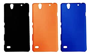 Winsome Deal 3 Pieces of Exclusive Quality Hard Back Cover Case For Sony Xperia C4