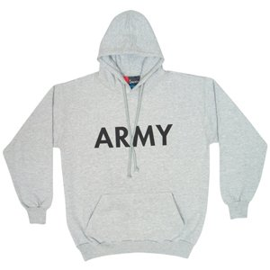Pullover Hoodie - Army - Heather Grey-3XL from FoxOutdoor