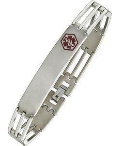 Stainless Steel & Magnetic Adjustable Medical ID Bracelet