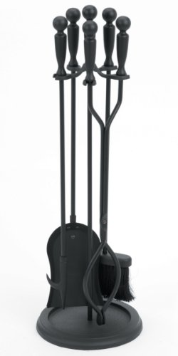 Chimney 61020 Woodfield Black 4-piece Tool Set With Ball Handle (4 Piece Fireplace Tools compare prices)