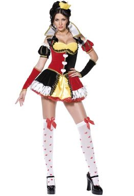 Queen of Hearts Fancy Dress Costume – Fever Boutique (adult size 8-10)