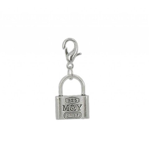 Charm padlock in steel by Charming Charms. Free shipping up to 30£