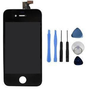 Replacement Digitizer And Touch Screen Lcd Assembly For Black Apple Iphone 4S (For At&T/Verizon/Sprint Iphone 4S) + 7 Piece Tools Included