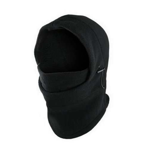 Top Seller Newest and Functional 6 in 1 Neck Warm Helmet Winter Face Hat Fleece Hood Ski Mask Equipment Black adjustable size (Hood And Mask compare prices)