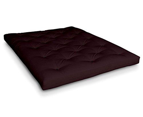 Futon-Naoko-Baumwollfuton-Futonmatratze-mit-6x-Baumwolle-von-Futononline-Gre160-x-200-cmColor-Futon-SE-AmazonBordeaux-Darkschwarz