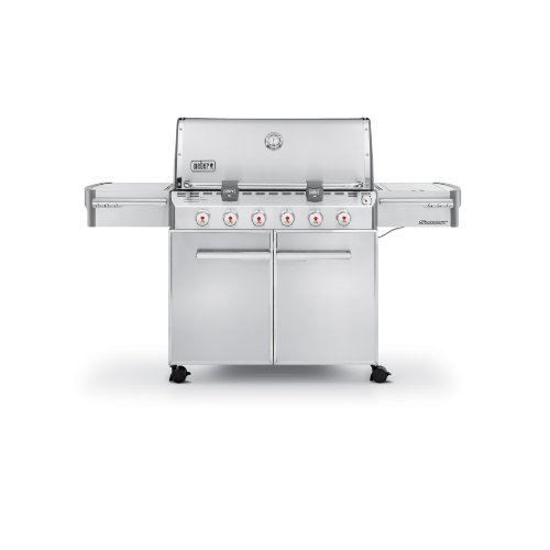 Weber Summit 7320001 S-620 Stainless-Steel 838-Square-Inch 60,800-BTU Liquid-Propane Gas Grill