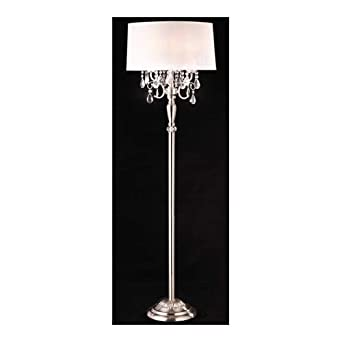 Modern Contemporary Crystal Silver Floor Lamp Floor Lamps For Living Room