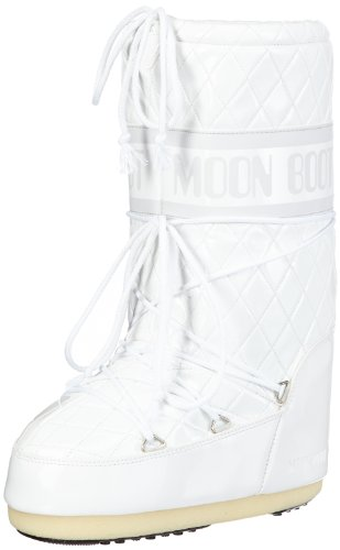 Moon Boot Queen, Stivali, Unisex - adulto, Bianco (Weiß (White 2)), 35/38
