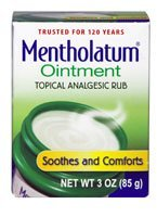 Mentholatum Ointment Topical Analgesic Rub -- 3 oz