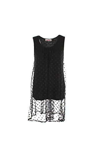 Top Donna Kontatto GI705 Nero Primavera/Estate Nero S