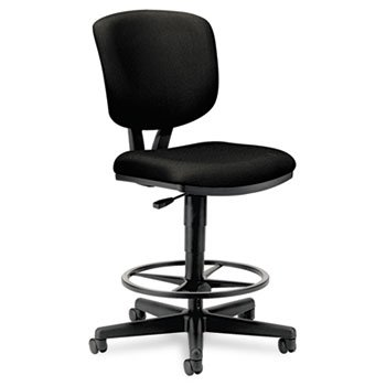 HON Volt H5705 Task Stool for Office or Computer Desk, Black