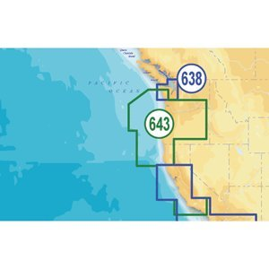 Navionics NAV-MSD/643P+ Platinum California and Oregon on SD/microSD Card