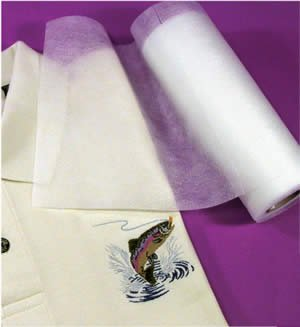 "Fusible No-show Polymesh Plus Embroidery Stabilizer/ Backing Iron on - 8"" X 10yd"