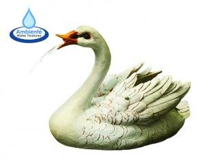 Graceful Swan Floating Solar Water Fountain