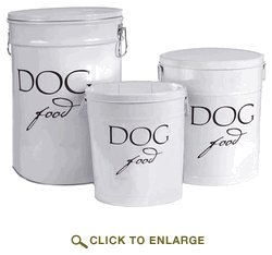 Harry Barker Dog Food Storage Can - White from Harry Barker