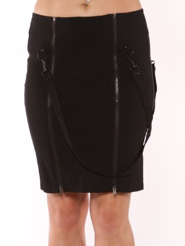 Lip Service Industrial Vice Pencil Skirt with Bondage Straps Womens Sizes: Large Image
