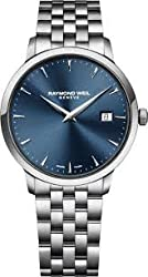 Raymond Weil Toccata Blue Dial Stainless Steel Mens Watch RW-5488-ST-50001