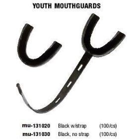 Mueller Youth Mouthguards without Strap- Black (Price/Case),
