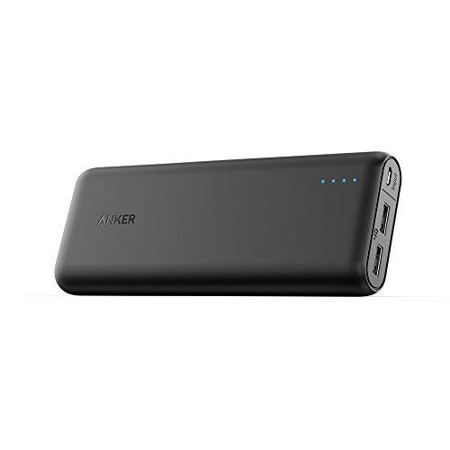 [La Batería Externa de 20000mAh Más Compacta] Anker PowerCore 20100 - Cargador Portátil Capacidad Ultra Elevada con Salida de 4.8 Amperios y Tecnología PowerIQ para iPhone, iPad, Samsung Galaxy y más