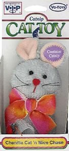 Vo-Toys Chenille Cat and Mice Chase Cat Toy