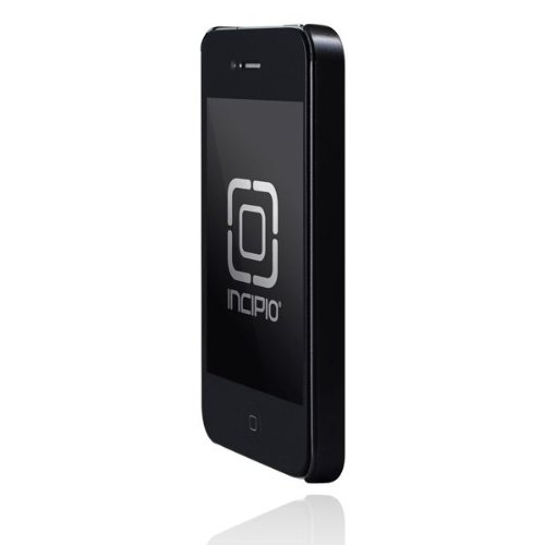 Incipio iPhone 4/4S feather Ultralight Hard Shell Case - 1 Pack - Carrying Case - Retail Packaging - Pearl Metallic Black