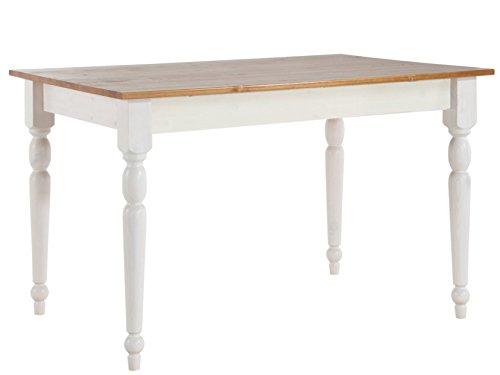 LifeStyleDesign-629062-Tisch-Rimini-75-x-80-x-140-cm-kiefer-massiv-wei-honig-lackiert