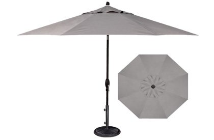 Pebble Lane Living 9u0027 Tilt and Crank Patio Umbrella - Grey  sc 1 st  Importitall : crank patio umbrellas - thejasonspencertrust.org